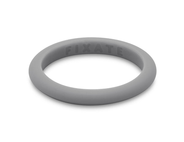 Stackables Women's Silicone Ring | Light Gray
