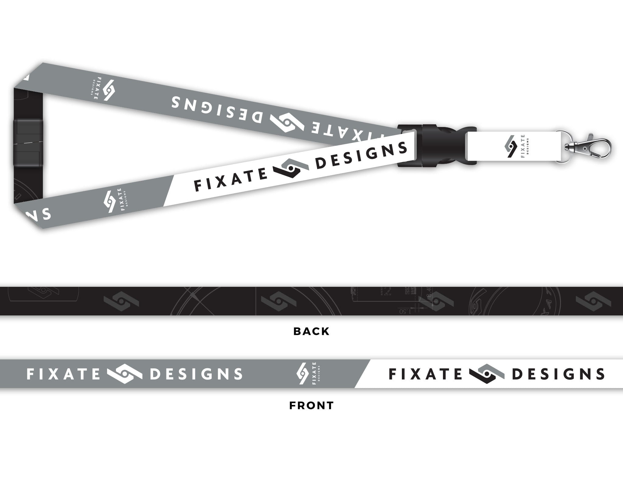 Apparel accessories fixate designs blueprint lanyard malvernweather Choice Image