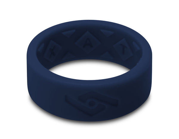 X-Vent Flattop Men's Silicone Ring | Navy