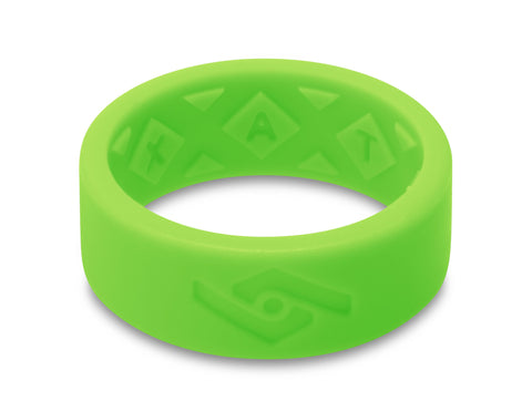 X-Vent Flattop Men's Silicone Ring | Neon Green