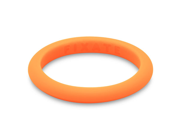 Stackables Women's Silicone Ring | Neon Orange