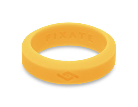 Slant Silicone Ring | Neon Yellow