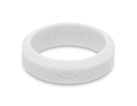 Slant Silicone Ring | Pure White