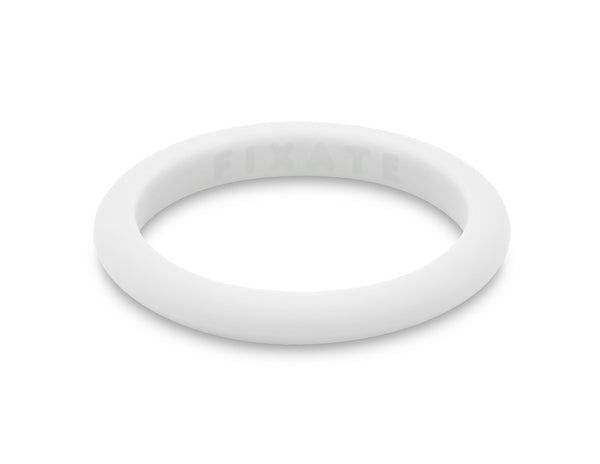 Stackables Women's Silicone Ring | Pure White