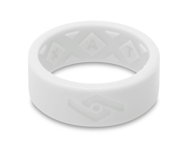 X-Vent Flattop Men's Silicone Ring | Pure White