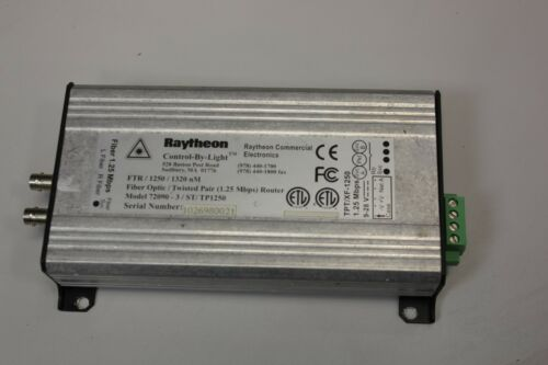 RAYTHEON FIBER OPTIC/TWISTED PAIR (1 25Mbps) ROUTER 72090-3/ST/TP1250