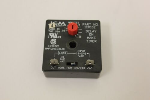 ICM Controls Time Delay Relay ICM102 Lot 4
