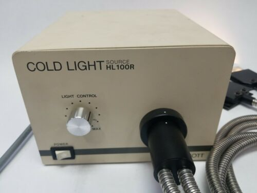 Hoya-Schott Cold Light Source HL100R + Dual Fiber Light Guides