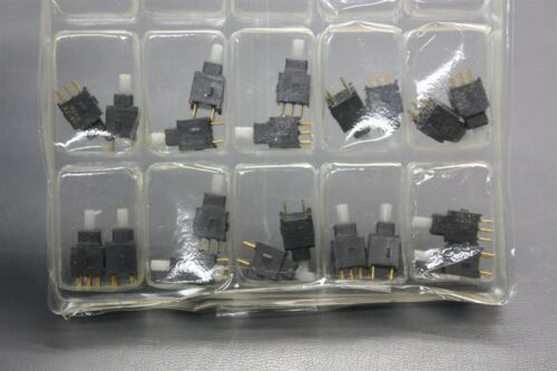 20PCS NKK DPDT ON-ON STRAIGHT PUSHBUTTON SWITCH AB25AP-FA