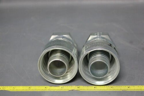 2 EATON STRAIGHT HYDRAULIC HOSE FITTING 1AA20FR20 (S23-3-104F)