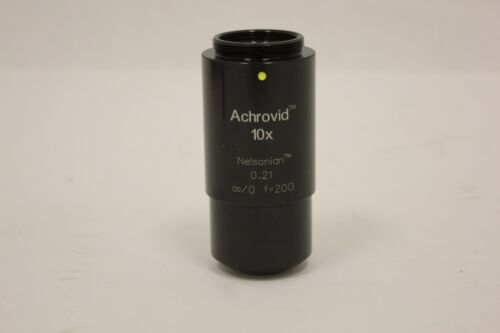 Infinity Achrovid Nelsonian Video Microscope Objective 10x 0.21 Photo Optics