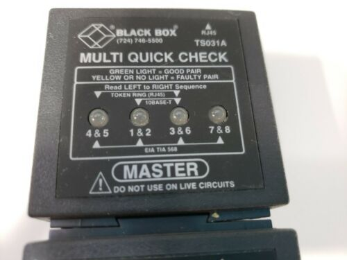 Black Box Multi Quick Check TS031A Master And Remote