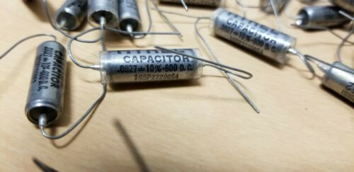 21 Unused Sprague Hyrel PIO Capacitors .0027 600VDC Tube Amp