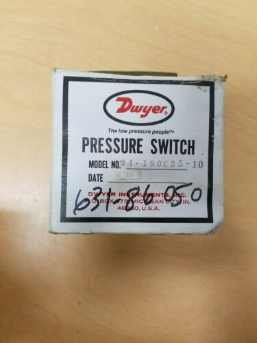 DWYER Series 1800 PRESSURE SWITCH 24-190C35-10