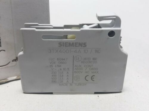 Siemens Auxiliary Contact Block 3TX4001-4A