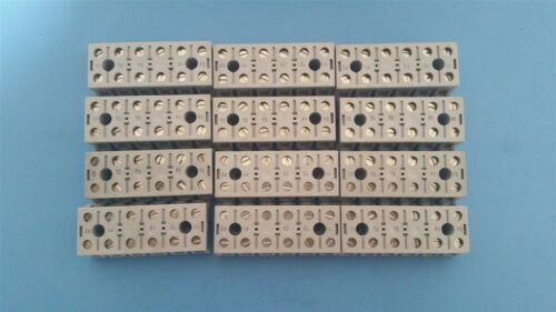 12 MARATHON PANEL MOUNT BARRIER TERMINAL BLOCKS 50A 600V 0987