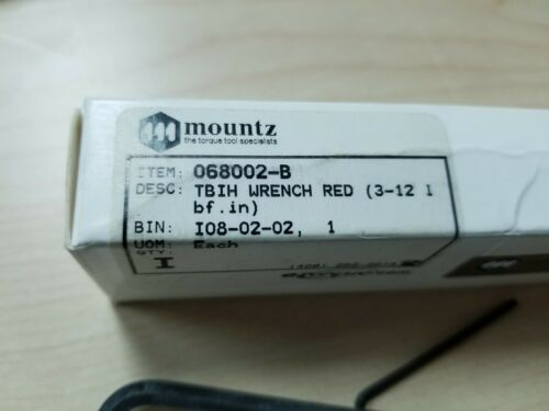 New Mountz Production Break Over Torque Wrench 3-12 LBF-IN TBIH 068002-B Red