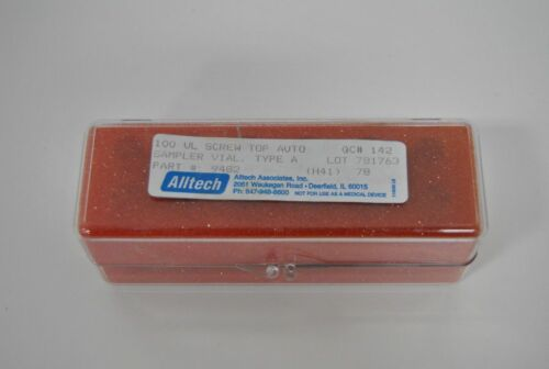 10 ALLTECH 100UL SCREW TOP AUTO SAMPLER VIAL TYPE A 9482