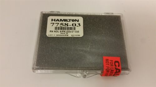 6 HAMILTON REPLACEMENT SYRINGE NEEDLE 7758-03
