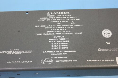 Lambda Veeco Regulated Power Supply LFS-44-48 416W max 48VDC