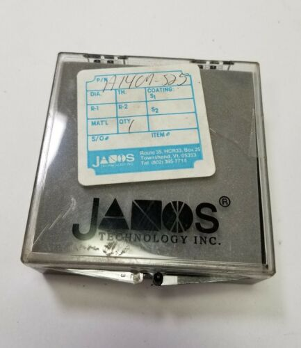 JANOS CALCIUM FLUORIDE OPTICAL LASER LENS 2MM DIA .20UM(203.49) 5.8MM CT A1407