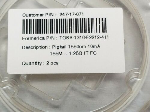 2 New Formerica 1550nm Pigtail Laser Diode TOSA-1316-F2212-411