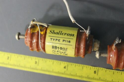 3pcs VINTAGE SHALLCROSS WIRE WOUND RESISTORS P116 RB19BE (S15-1-25B)