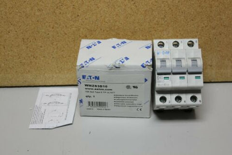 New Eaton Circuit Breaker 3 Pole 10A WMZS3D10