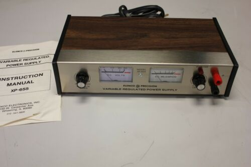 Elenco Precision Variable Regulated Power Supply XP 655 powers on
