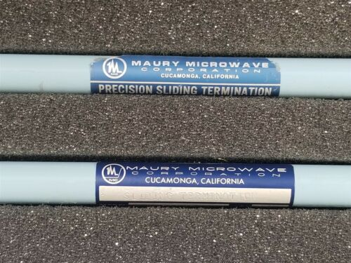 Maury Sliding Loads Rf Load Matching (M/f) 450-1 450-2 Termination
