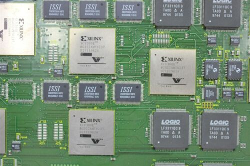 10 Xilinx Virtex Fpga Processors on a Pcb Xcv300e