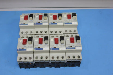 Lot Of 8 Telemecanique GV2-M08 Circuit Breaker Motor Starter 2.5-4A