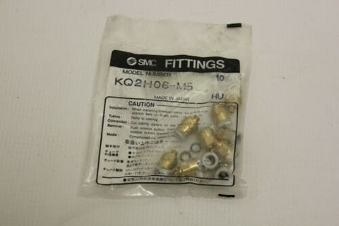 10 New SMC KQ2H06-M5 Fitting Male Brass