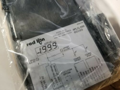 New Red Lion Apollo Current Loop Indicator Panel Meter APLCL400