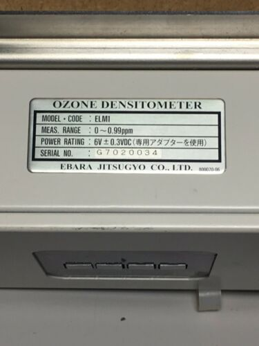 Ebara Jitsugyo Ozone Densitometer ELM1 UV O3 Leak Monitor W/ Power Cord