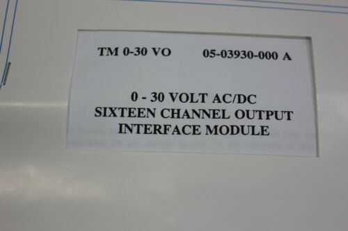 Unused Comark 0-30v AC/DC 16Ch Output Interface Module 54-03930-000/002