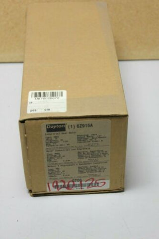 New Dayton Gear Motor Gearmotor 25:1 1/20hp 71rpm 6Z915A