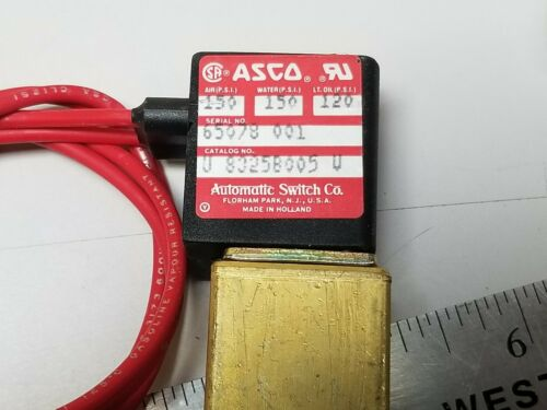 New ASCO Sub-Miniature Solenoid Valve 8325 8325B005 For Air /Water/Lt. Oil