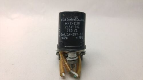 ALLIED CONTROLS RELAY MHX-230 26.5VDC 250 Ohm