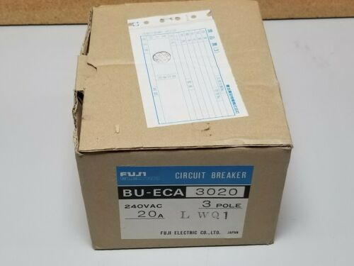 NEW FUJI 20A 240VAC CIRCUIT BREAKER BU-ECA3020 LWQ1 3 POLE