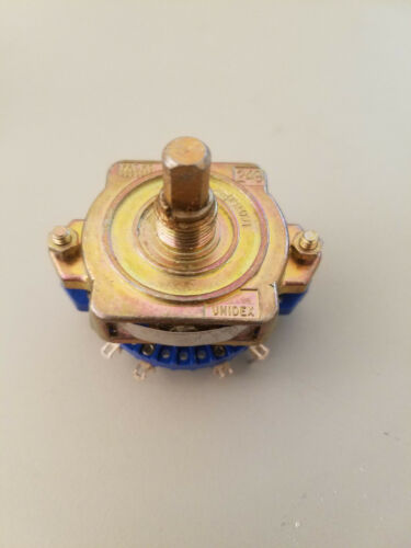 1 Unidex 249 10076047 Rotary Switch Blue