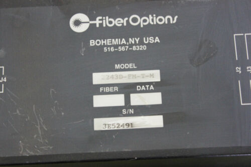 FIBER OPTIONS AUDIO/VIDEO TRANSMITTER 2243D-FM-T-M (S22-2-11E)