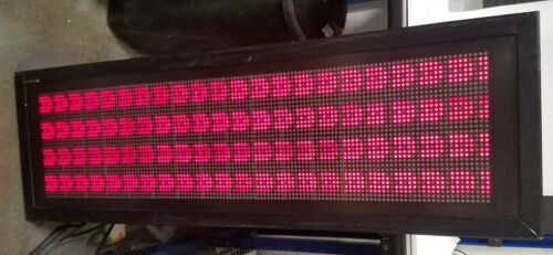 Daktronics Galaxy 32x128 Led Matrix Display 7.6mm Red/green/amber Rs422