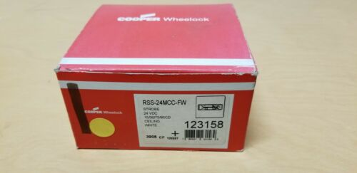 Cooper Wheelock Fire Alarm Strobe Light RSS-24MCC-FW