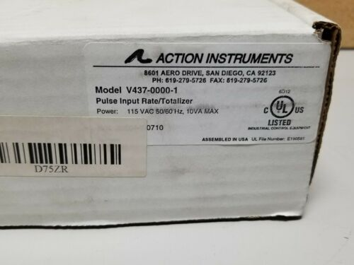 New Action Instruments Visipak Pulse Input Rate/Totalizer Panel Meter V437-0000-