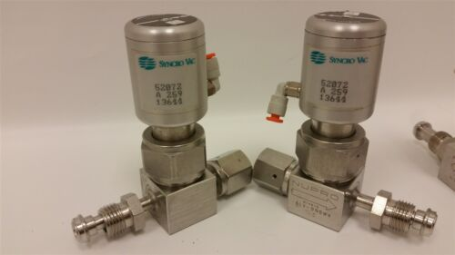 3 NUPRO HIGH PURITY BELLOWS SEALED VALVE WITH SYNCRO VAC ACTUATOR 52072 520254
