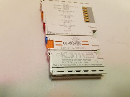 Beckhoff Digital I/o Module Incremental Encoder Interface 24vdc Kl5111