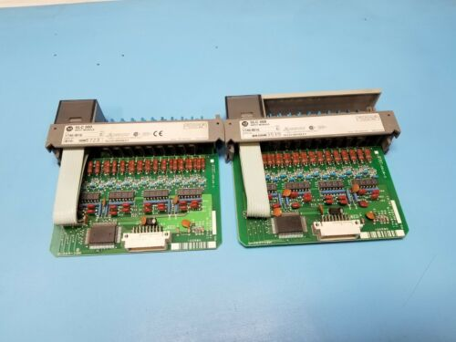 (2) Allen Bradley 1746-IB16 SLC 500 Input Modules Series C