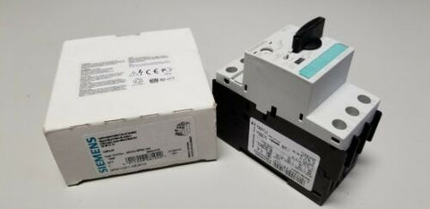 New Siemens Circuit Breaker .28-.4A 3RV1021-0EA10 Motor Control Protection