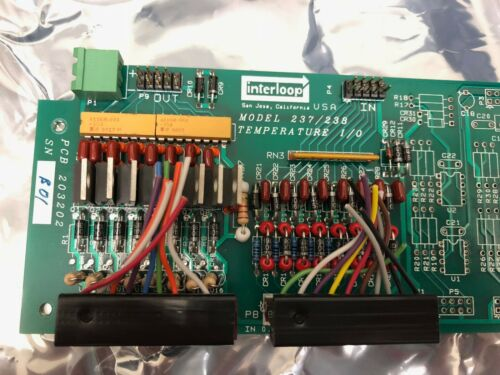 Interloop EDC Biosystems PCB Board 237/ 238 203202 Temperature I/O Controller